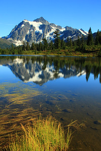 Mount Shuksan reflects in Picture Lake