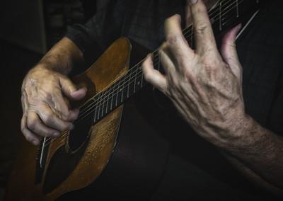 Don Brennan on guitar