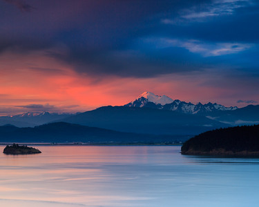 Rosy Sunset on Mount Baker