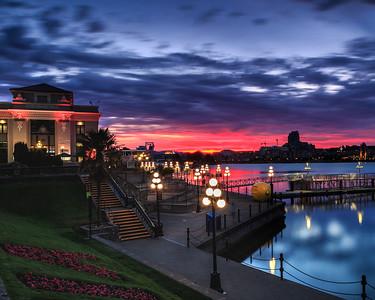 Victoria Harbor at Twilight