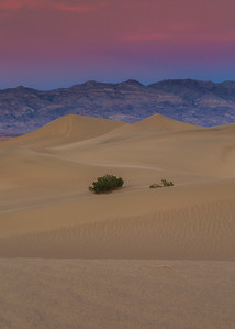 Sunset over Mesquite Dunes