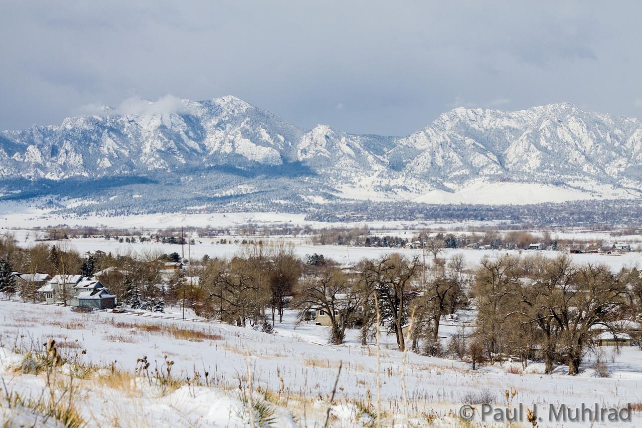 Bear Peak (l), Green Mountain (r) and Boulder from Davidson Mesa