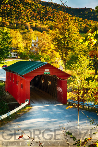Covered Bridge Fall Scenic, West Arlington, Vermont