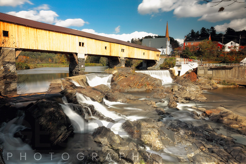 Covered Bridge over the Ammonoosuc River, Bath, New Hampshire