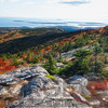 Cadillac Mountain Autumn Scenic Vista, Acadia National Park, Maine