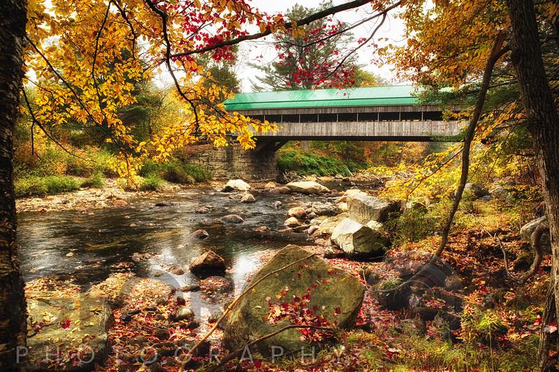 Covered Bridge Over the Ellis River