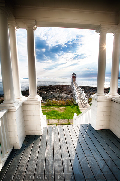 View of the Marshall Point Lighthouse from the Keeper's House, Maine