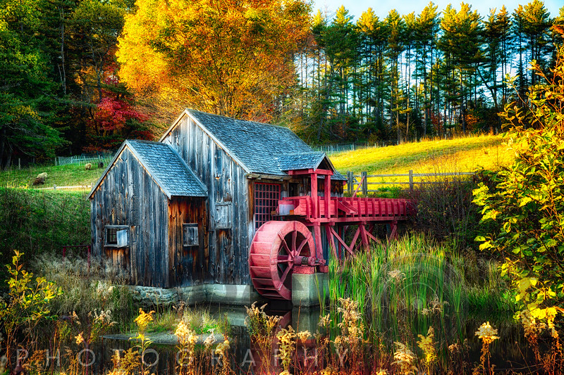 Little Grist Mill in Autumn Colors, Vermont