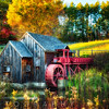 Little Grist Mill in Autumn Colors, Vermont