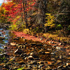 Rocky Creek in Franconia at Fall