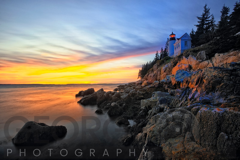 Bass Harbor Head Lighthouse Sunset, Mt Desert Island, Maine