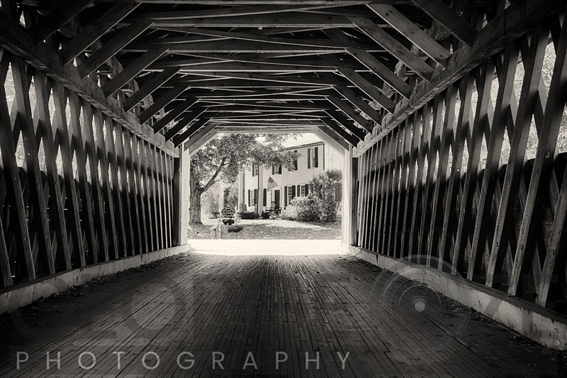 View Trough a Covered Bridge, North Bennington, Vermont