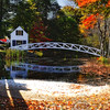 View of The Somesville Selectment Building and Bridge, MT. Desert Island,Maine