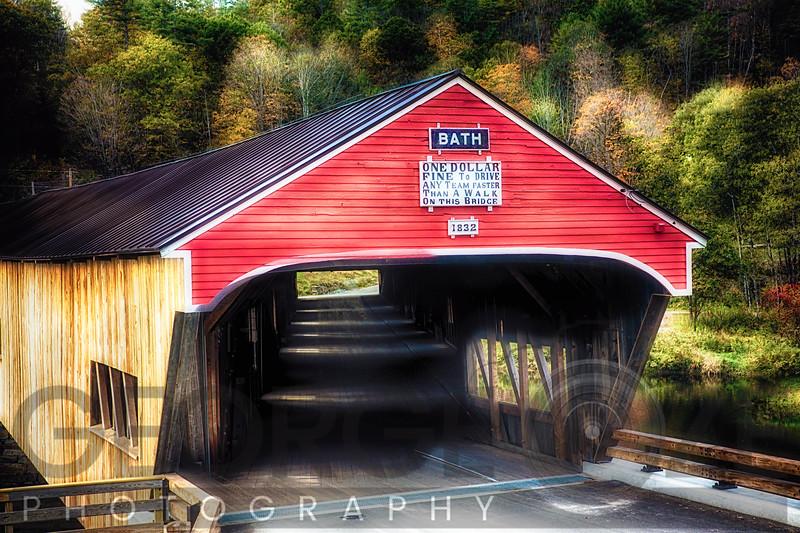Bath Covered Bridge Entrance View, Bath, New Hampshire