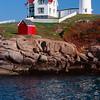 Vertical View  of the Cape Neddick Lighthouse, York, Maine