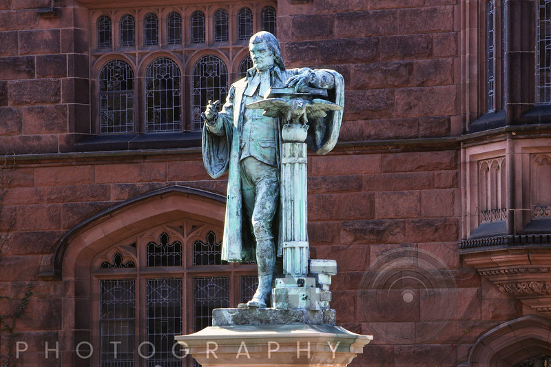 Close up View of John Witherspoon Statue, Princeton University, New Jersey