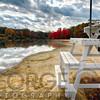 Empty Beach in Autumn, Round Valley Reservoir, Hunterdon County, New Jersey