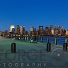 City Skyline of Lower Manhattan at Night, New York