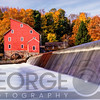 Historic Red Mill At Fall Clinton New Jersey