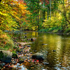 Fall Scene with a Creek, Oldwick, New Jersey
