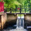 Spring Canal Lock Scene