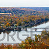 Delaware River Scenic with a View of New Hope, Pennsylvania