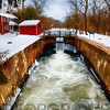 Lock on the Delaware& Raritan Canal at Griggstown in Winter, New Jersey