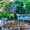 Old Dam with a Waterfall on the Whippany River, Speedwell Lake Park, Morristown, New Jersey