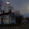 Sandy Hook Lighthouse at Full Winter Moon, New Jersey