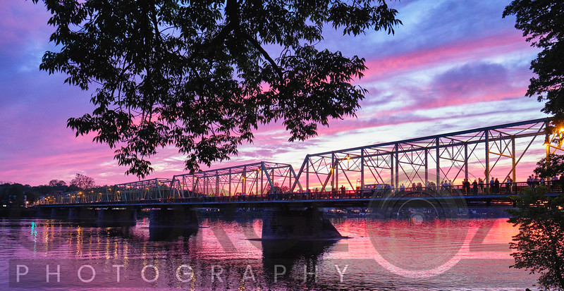 Delaware River Sunset in Lambertville, New Jersey,