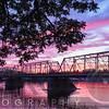 Delaware River Sunset in Lambertville, New Jersey,