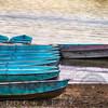 Boats at a Jetty on a Lake at Sunset