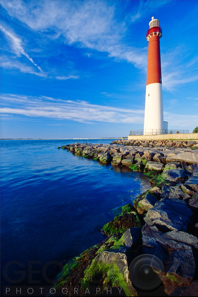 Vertical View of a Lighthouse, Barnegat Lighthouse, Long Beach Island, New Jersey