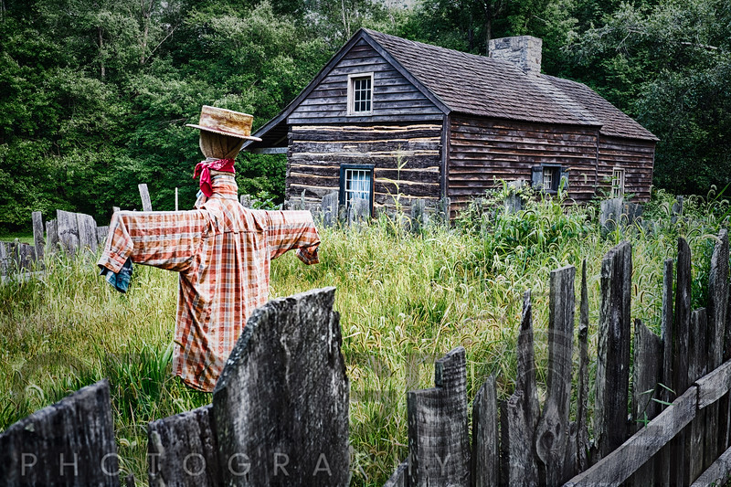 Old Farmhouse with a Scarecrow,