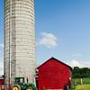 Grain Silo with A Tractor on a Farm, Hunterdon County New Jersey