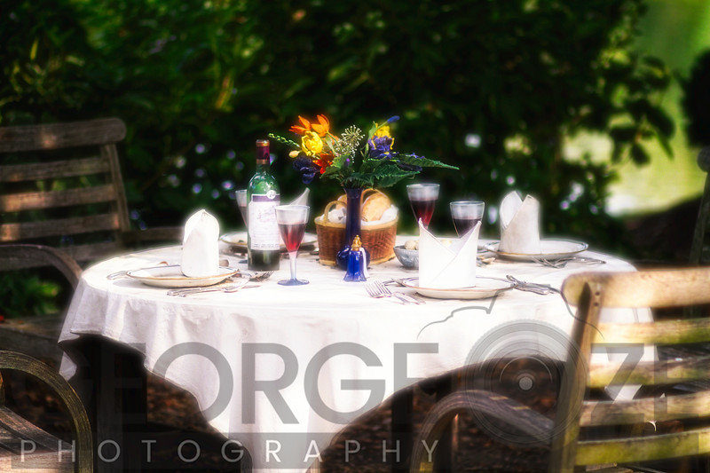 Romantic Outdoor Dinner Table