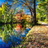 Bright Autumn Day at the D & R Canal, Princeton, New Jersey