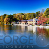 Bothaouse on Lake Carnegie with Autumn Foliage