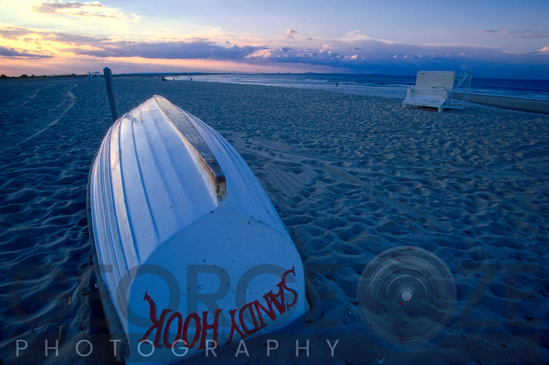 Boat on the New Jersey Shore at Sunset, Sandy Hook