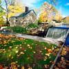 Ironsmith Hut and creek, Waterloo Village at Fall, Newton, New Jersey