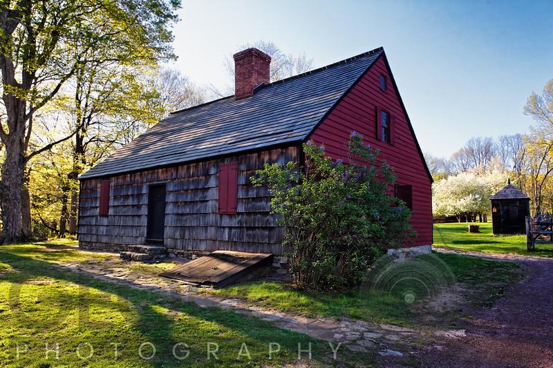 Springtime View of the Historic Vick Family Farmhouse