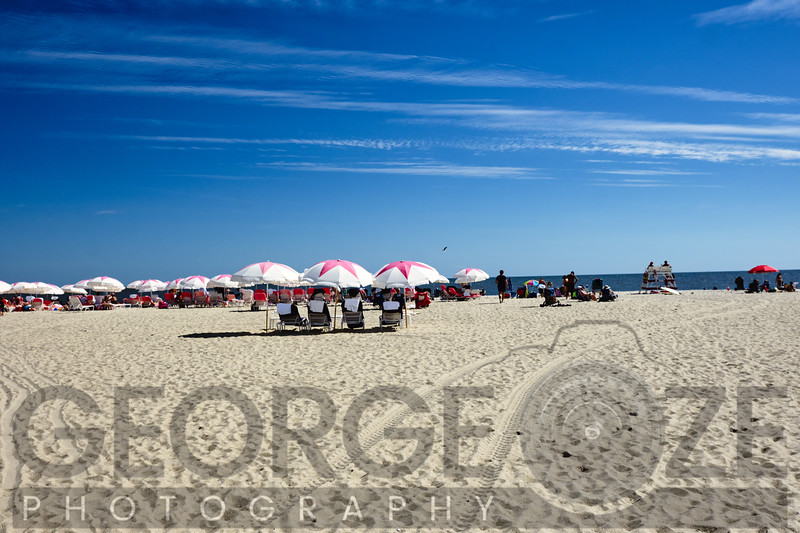 Sandy Beach with Umbreallas, Cape May, New Jersey