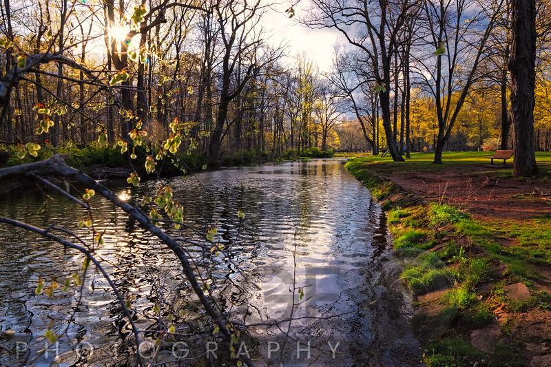 Raritan River  Flows Through the Natirar Park, New Jersey