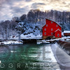 Winter Landscape with a Red Grist Mill, Clinton, New Jersey