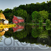 Tranquil River with Reflections at the Historic  Red Mill Village, Clinton New Jersey