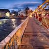 The Historic Clinton Bridge During the Christmas Holiday Season at Night