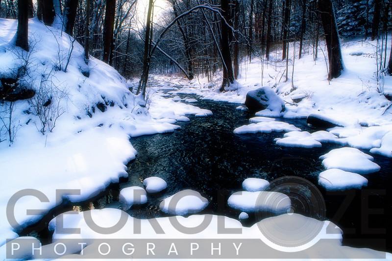 Black River Winter Scenic, Chester, Morris County, New Jersey
