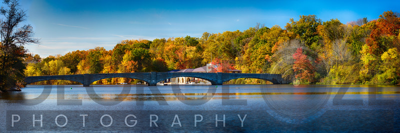 Bridge On Lake Carnegie at the Shea Rowing Center, Princeton, New Jersey