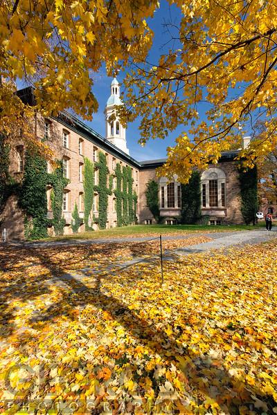 Autumn Scenic View of Nassau Hall, Princeton University, New Jersey