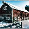Vintage Farm Building During Winter, Hunterdon County, New Jersey